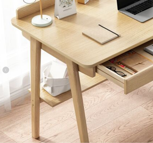 120cm Workstation Office Computer Desk Study Table Home Storage Drawers Shelf Wooden