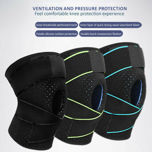 Gel Silicone Knee Support Brace Compression Strap Arthritis Pad Pain Relief