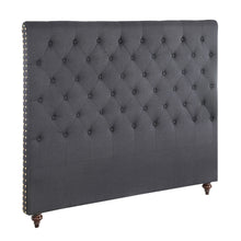 Load image into Gallery viewer, King Size Black Color Fabric Bed Head Upholstered Headboard Bedhead Frame