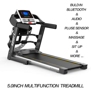 Multi-functional Electric Treadmill Pulse Sensor 5.0 inch LCD Fitness Home Gym Massage Sit Up Bar