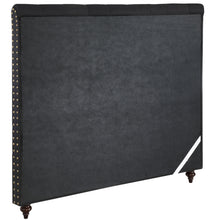 Load image into Gallery viewer, Double Size Black Color Fabric Bed Head Upholstered Headboard Bedhead Frame