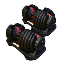 Load image into Gallery viewer, 48kg Adjustable Dumbbell Set Home GYM Exercise Equipment Weight 2x 24kg