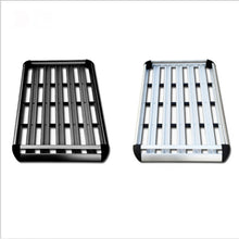 Load image into Gallery viewer, 160*100 Black Double Aluminium Alloy SUV 4x4 RoofRack Basket Cargo Luggage Carrier Box