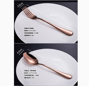 Cutlery Set Rose Gold 16 pcs Stainless Steel Knife Fork Spoon Stylish Teaspoon Kitchen