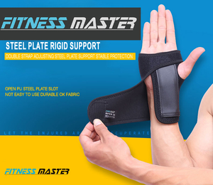 Steel Wrist Support Splint Carpal Tunnel Syndrome Sprain Strain Bandage Brace Left Right Hand