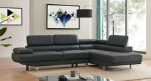 Load image into Gallery viewer, 2.8m Modern Dark Grey Right Corner PU Leather Sectional Sofa Chaise Lounge Suite Couch Furniture