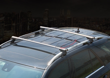 Load image into Gallery viewer, 135cm Adjustable Lockable Aluminum Bar Car Roof Rack Carrier Cross Fitting with Lock
