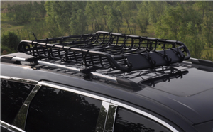 160cm Heavy Duty Universal Steel Roof Rack Basket Powder Coated Luggage Carrier