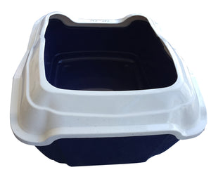 Large Quaity Pet Cat Kitty Litter Pan Tray Box With Rim 50X40X27cm