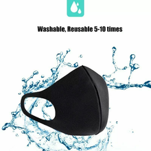 Load image into Gallery viewer, 2x Black Fashion Face Mask Stretch Lightweight Fabric Covering Reusable Maskes Washable Unisex
