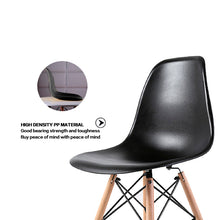 Load image into Gallery viewer, 2/4/6/8 Replica Eames Retro Dining Chairs Cafe Kitchen Beech (Black/White)