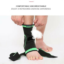 Load image into Gallery viewer, Ankle Brace Support Adjustable Sport Stabilizer Elastic Foot Wrap Protector