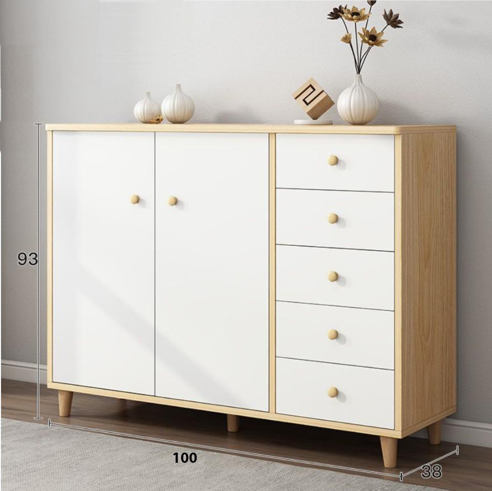 120cm Buffet Sideboard Cabinet Storage Hallway Table Kitchen Cupboard Drawer Shoe