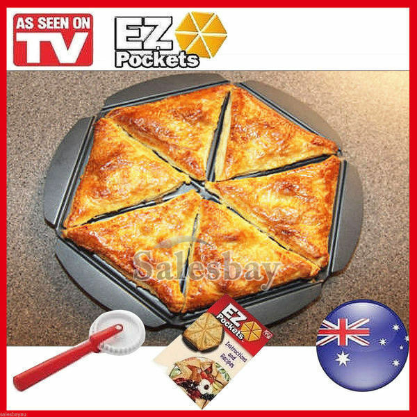 Ez Pockets Pie Pans 3pcs Tools As Seen On TV Easy to Make Recipe Guide