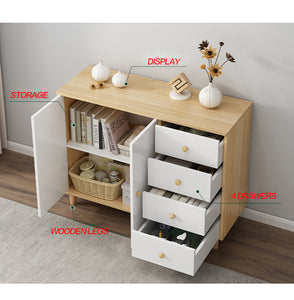 100cm Buffet Sideboard Cabinet Storage Hallway Table Kitchen Cupboard Drawer Shoe