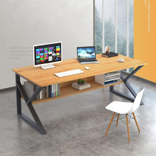 Load image into Gallery viewer, 120cm Computer Desk Study Home Office Table Student Black Metal Workstation Storage