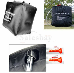Camping 20L Outdoor Solar Heated Water Pipe Solar Shower Bag Portable Bag