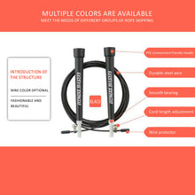 Load image into Gallery viewer, 3M Adjustable Steel Skipping Ropes Jump Cardio Exercise MMA GYM Boxing Speed