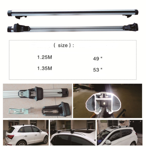 135cm Adjustable Lockable Aluminum Bar Car Roof Rack Carrier Cross Fitting with Lock