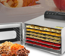 Load image into Gallery viewer, Commercial Grade 6 Layer Fruit Dryer Stainless Steel Food Jerky Maker Dehydrator
