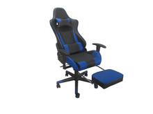 Load image into Gallery viewer, Blue Color High Back Executive Gaming Chair w Footrest Office Computer Seating Racer Recliner Chairs