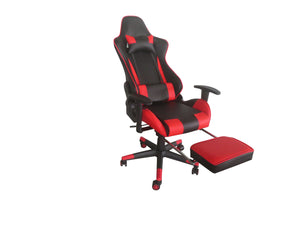 Red Color High Back Executive Gaming Chair w Footrest Office Computer Seating Racer Recliner Chairs