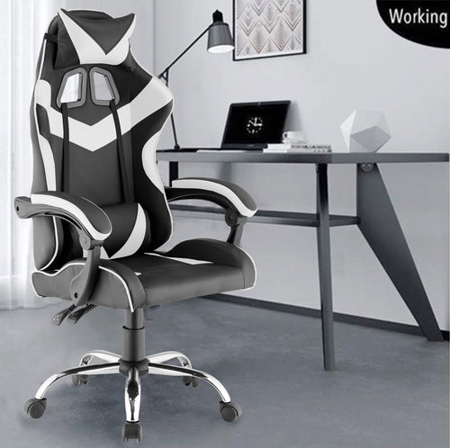Grey Colour High Back Executive Gaming Chair Office Computer Seating Racer Recliner Chairs