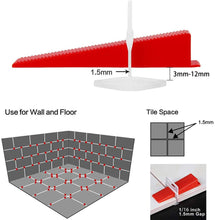 Load image into Gallery viewer, Tile Leveling System (701) 3mm Clips Wedges Plier Spacer Tiling Tool Floor Wall