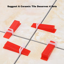 Load image into Gallery viewer, 1.5mm Clips 1000pcs Tile Leveling System Spacer Tiling Tool Floor Wall