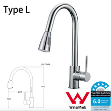 Load image into Gallery viewer, WELS Kitchen Bathroom Laundry Shower Water Basin Mixer Tap Vanity Sink Faucet -Type L