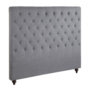 King Size Grey Color Fabric Bed Head Upholstered Headboard Bedhead Frame