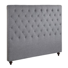 Load image into Gallery viewer, Queen Size Grey Color Fabric Bed Head Upholstered Headboard Bedhead Frame