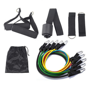 Heavy Duty Latex 11PCS Resistance Band Tube Power Gym Yoga Training Fitness