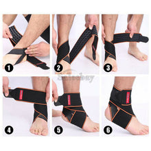 Load image into Gallery viewer, Ankle Brace Support Compression Elastic Foot Wrap Protector Sport Stabilizer