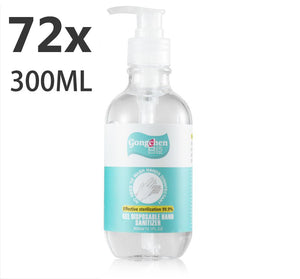 Instant Hand Sanitizer Sanitiser 72x 300ML Bulk Gel Pump Alcohol 75% Ethanol Base -Kills 99.99% Germs