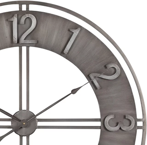 80cm Round Wall Clock Metal Industrial Iron Vintage French Provincial Antique