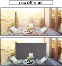 Load image into Gallery viewer, Side Awning Grey 200x300cm Sun Shade Indoor Outdoor Blinds Retractable Partition Screen