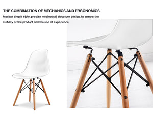2/4/6/8 X Retro Replica Eames Eiffel Dining Chairs DSW Cafe Kitchen Chairs AU STOCK