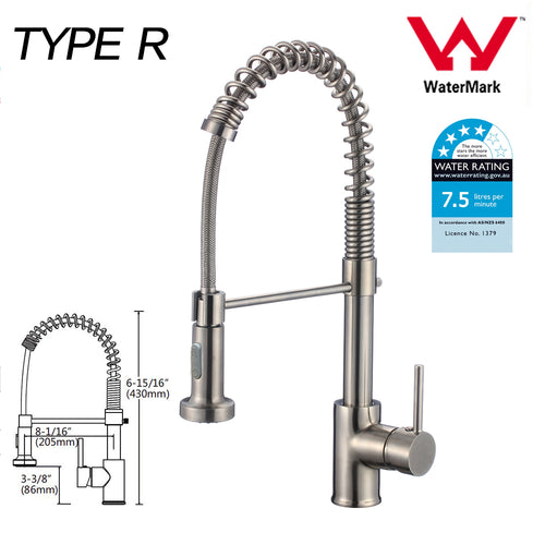 WELS Kitchen Bathroom Laundry Shower Water Basin Mixer Tap Vanity Sink Faucet -Type R