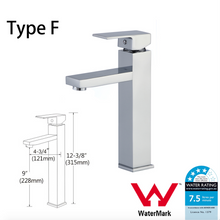 Load image into Gallery viewer, WELS Kitchen Bathroom Laundry Shower Water Basin Mixer Tap Vanity Sink Faucet -Type F