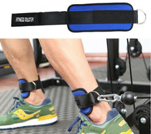 Load image into Gallery viewer, Weight Lifting Ankle Strap Gym D-Ring Pulley Cable Attachment Leg