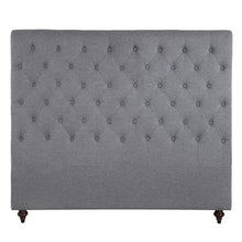 Load image into Gallery viewer, King Size Grey Color Fabric Bed Head Upholstered Headboard Bedhead Frame