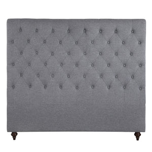 Double Size Grey Color Fabric Bed Head Upholstered Headboard Bedhead Frame