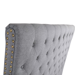 Double Size Grey Colour Fabric Bed Head Upholstered Headboard Bedhead Frame