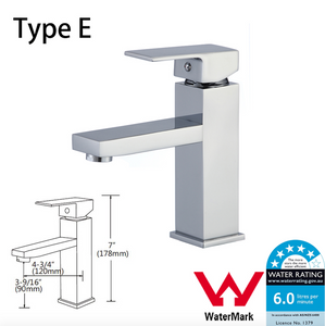 Kitchen Bathroom Laundry Shower Water Basin Mixer Tap Vanity Sink Faucet WELS-Type E