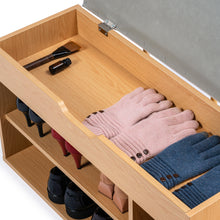 Load image into Gallery viewer, Stool Rack Storage Box Cupboard Organiser Shelf Shoe Cabinet Bench