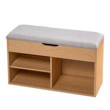 Load image into Gallery viewer, Stool Rack Storage Box Cupboard Organiser Shelf Shoe Cabinet Bench 80cm