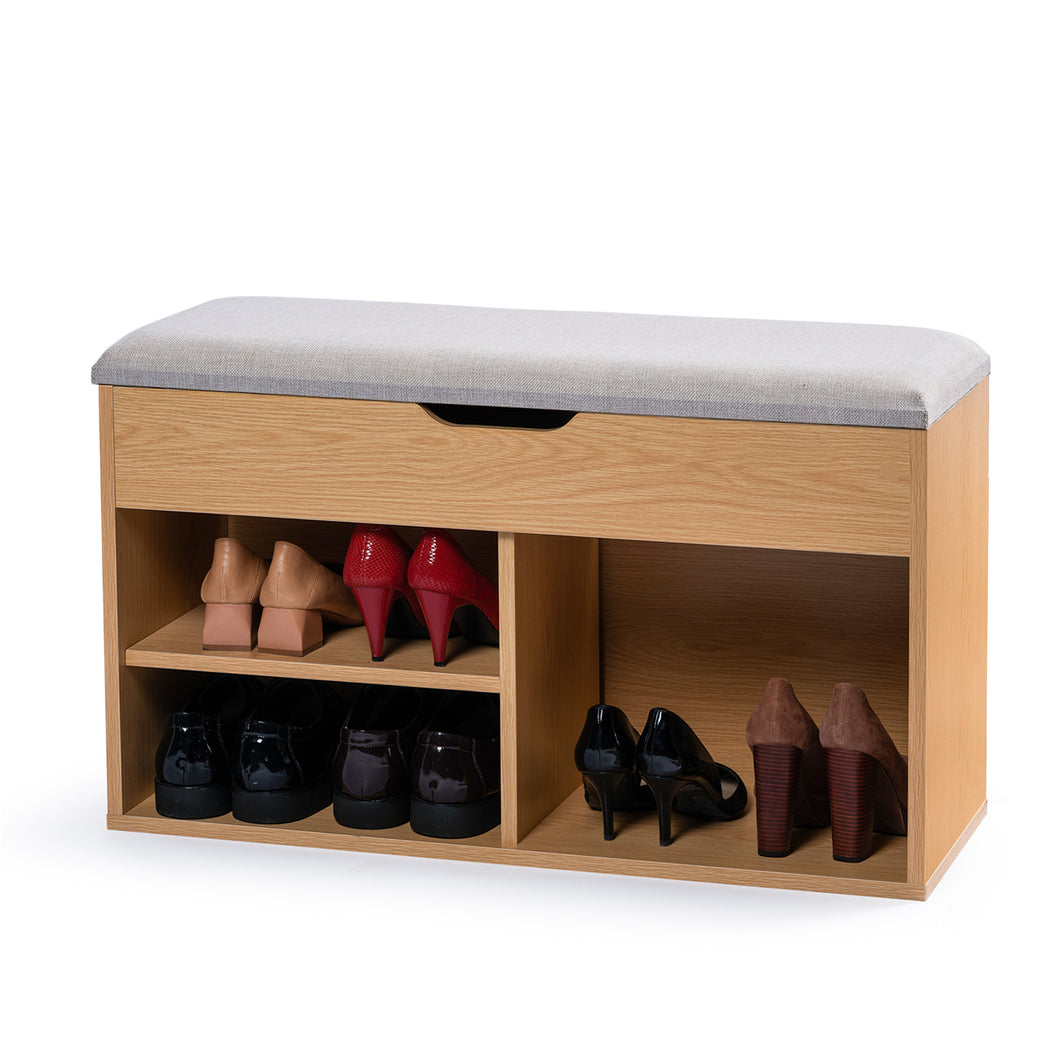 Stool Rack Storage Box Cupboard Organiser Shelf Shoe Cabinet Bench 80cm