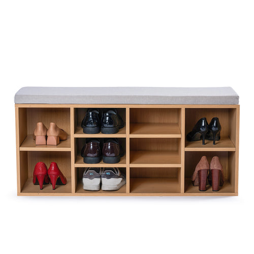 102cm Stool Rack Storage Box Cupboard Organiser Shelf Shoe Cabinet Bench