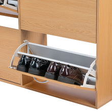 Load image into Gallery viewer, 120cm Shoe Cabinet Shoes Storage Rack Organiser Wooden Shelf Drawer 24 Pairs